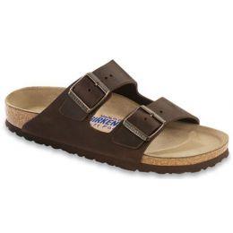 Birkenstock Arizona Habana Dark Brown Leather Womens Sandals 452763