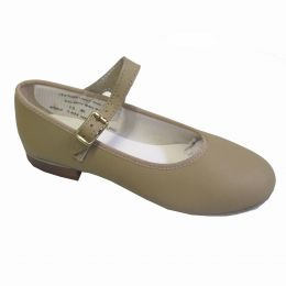 456A Tan Mary Jane Tap Shoes (Sizes 3-10)