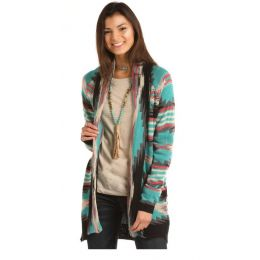 Panhandle Slim Rock & Roll Cowgirl Colorful Aztec Geometric Cardigan 46-2897