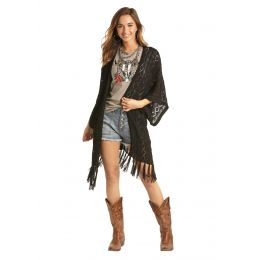 Panhandle Slim Rock & Roll Cowgirl Womens Fringe Cardigan 46-5184