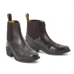 469583 Brown Ovation Synergy Zip Front Womens Paddock Boots