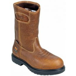 47017 Brown Waterproof Wellington Steel Toe Timberland Mens Work Boots