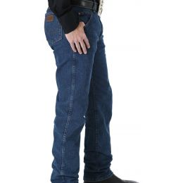 47MACMS Mid Stone Performance Boot Cut Wrangler Mens Jeans