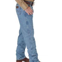 47MACSB Stone Bleach Performance Boot Cut Wrangler Mens Jeans