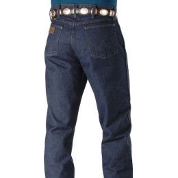 47MWZPW Prewashed Dark Blue Performance Boot Cut Wrangler Mens Jeans