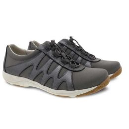 Dansko Charcoal Metallic Suede Harlie Womens Comfort Shoes 4851-970397