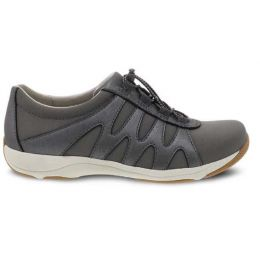 Dansko Charcoal Metallic Suede Harlie Womens Comfort Shoes 4851-970397