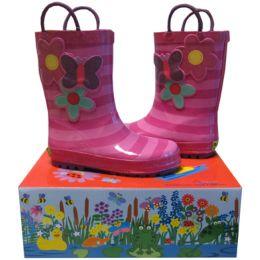 Smoky Mountain Blossom Cutie  Pink Kids Waterproof Rain Boot 490659