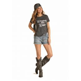 Panhandle Slim Rock & Roll Cowgirl Whiskey and Willie Shirt 49T4487-02
