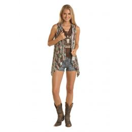 Panhandle Slim Rock & Roll Cowgirl Cascade Front Vest 49V5173-20