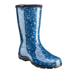 Sloggers Horseshoe Paisley Blue Rain & Garden Womens Boots 5018HPBL