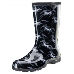 Slogger Wild Horses Black Womens Rain & Garden Boots 5021