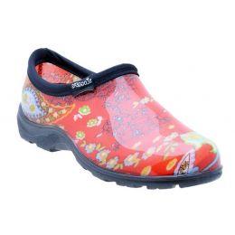 5104RD Paisley Comfort Ladies Rain Shoes