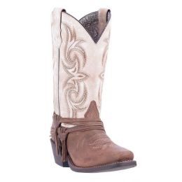 Dan Post Myra Sand with White Top Leather Womens Western Boots 51091