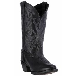 51110 Maddie Black Leather R Toe Laredo Womens Western Cowboy Boots