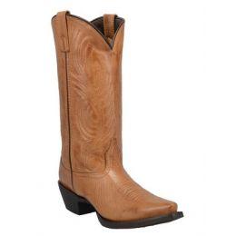 Laredo Tan #TBT Women's Leather Snip Toe Boot 51160
