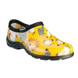 Sloggers Chicken Print Daffodil Yellow Waterproof Womens Comfort Shoes 5116CDY