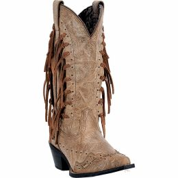 52031 Camel Leather Tygress Laredo Womens Fashion Western Boots