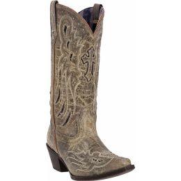 52157 Taupe Goat Leather Crosswing Womens Laredo Fashion Western Boots