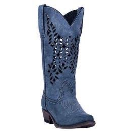 Dan Post Laredo Blue Chopped Out Womens Snip Toe Western Boots 52317