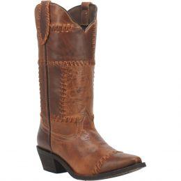 Dan Post Laredo Cognac Whiskey Run Womens Snip Toe Boots 52332