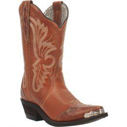 Laredo Brown Vinny Snip Toe Tan  Ladies Western Boot 52351
