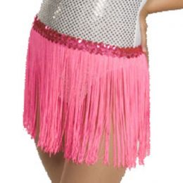 536F Fluorescent Fringe Skirt-12 IN Child