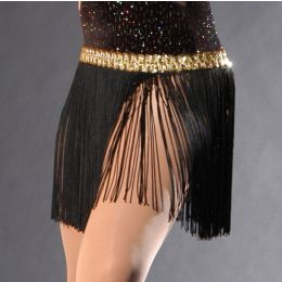 536G 12 IN Fringe Skirt with Gold sequin band Adult