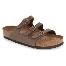53881 Mocca Florida Soft Footbed Birkibuc Womens Comfort Birkenstock Sandals