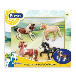 Breyer Stablemates Glow In The Dark 4-Horse Set Toy 5396