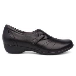 Dansko Black Milled Nappa Franny Womens Comfort Shoes 5500-020200