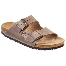 552813 Arizona Tobacco Leather Comfort Birkenstock Ladies Sandals (N)