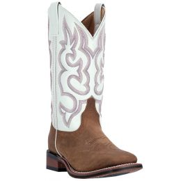 Dan Post Laredo Taupe/White Mesquite Womens Square Toe Western Boots 5621 **ONLINE ONLY**