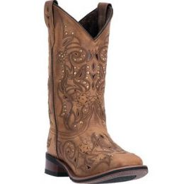 5643 Janie Tan Square Toe Laredo Womens Western Cowgirl Boots