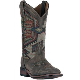 5647 Brown Scout Aztec Square Toe Womens Western Laredo Boots