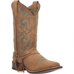 Dan Post Laredo Tan Sadie Womens Broad Square Toe Boots 5848
