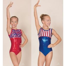 58550 Child Star Spangled Banner Tank Eurotard Leotard