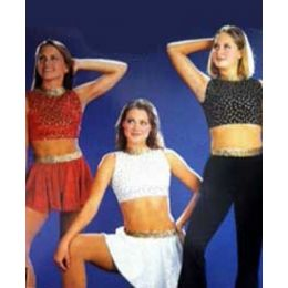 5909 Spotlight Jam Top and Skirt RECITAL COSTUMES CH
