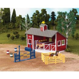 59197 Stablemates Red Stable Set with Two Horses