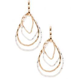 Saachi by In Things Gold Silver Falling Water Stud Back Earrings 601817