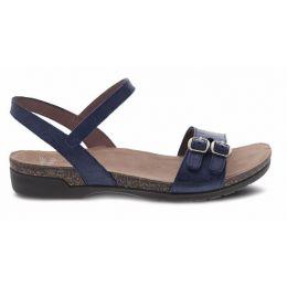 Dansko Navy Rebekah Waxy Burnished Womens Casual Sandals 6021-755300