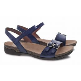 Dansko Navy Rebekah Waxy Burnished Womens Casual Sandals 6021-755300