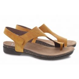 Dansko Reece Mango Waxy Burnished Womens Casual Leather Sandals 6024-465300