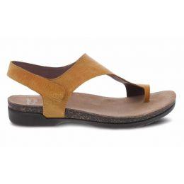 Dansko Reece Mango Waxy Burnished Womens Casual Leather Sandals 6024-465300
