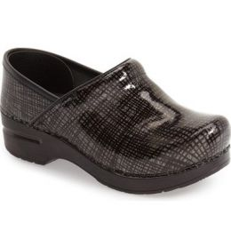 606-910202 Pattern Professional Womens Patent Leather Dansko Clogs