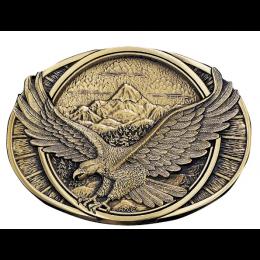 Montana Silversmiths Soaring Eagle Heritage Belt Buckle 60791C