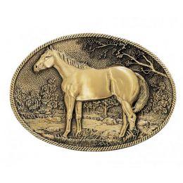 60795C Standing Horse Profile Heritage Attitude Belt Buckle