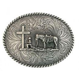 Montana Silversmith Christian Cowboy Attitude Belt Buckle 61304