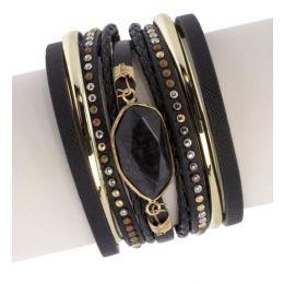 Saachi by In Things Black Midnight Tropic Bracelet 614418
