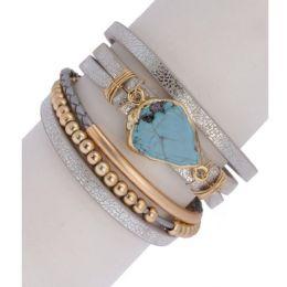 In Things Turquoise Stone Playa Bracelet 614419